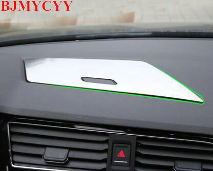 BJMYCYY 1PCS Auto instrument desk central store content box panel ABS decorative strips  ...