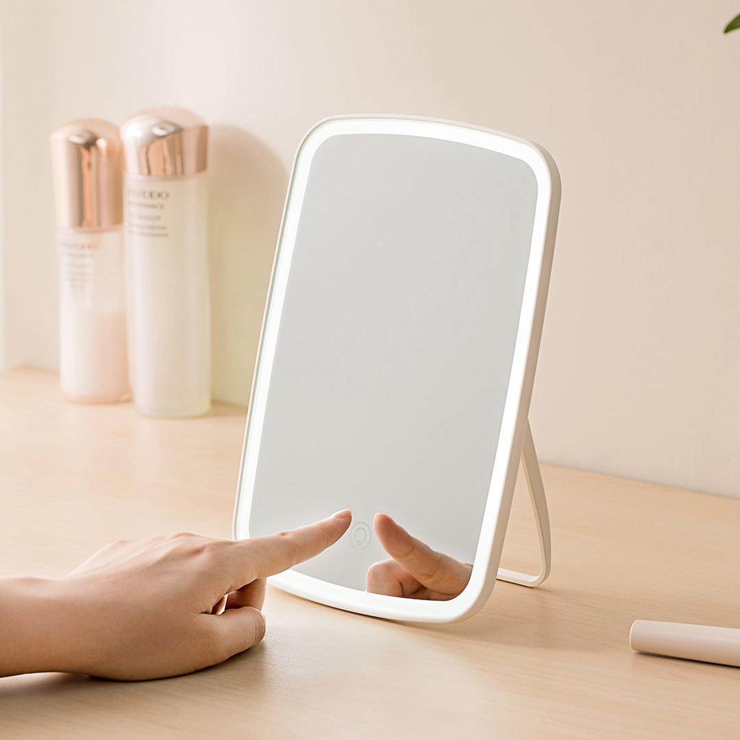 2019 NEW Xiaomi Mijia Makeup Mirror Led Light Portable Folding Mirrors Dormitory Home Desktop Portable Mirror Smart Product