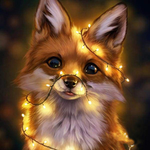 Needlework Diy 5d Diamond Painting Embroidery Handicrafts Rhinestones Lovely Little Fox European Home Decor