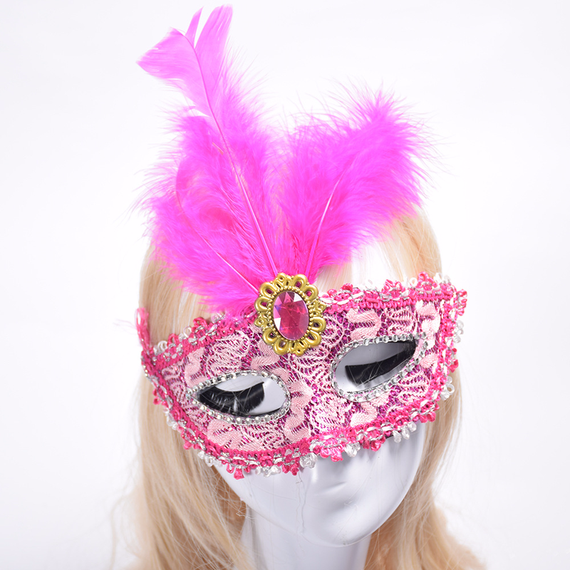 New 20pcs lot New Party Maskss Halloween Christmas Masquerade Feather Masks Fashion Women Sexy Half Face Masksed Wholesale in Boys Costume Accessories from Novelty Special Use