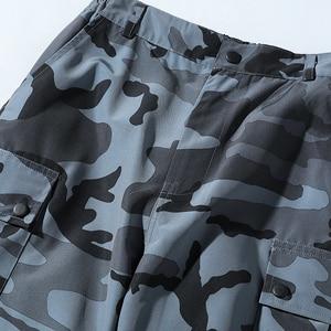 Image 5 - ウナ Reta 迷彩男パンツ新ファッションストリートジョギングパンツカジュアル長ズボンの男性ヒップホップ弾性ウエスト貨物パンツ