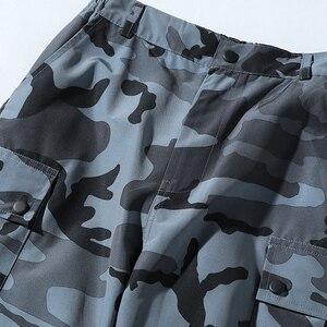 Image 5 - Una Reta pantalon de Camouflage pour homme, tenue Cargo, Streetwear, pantalon Long pour homme, style Hip Hop, taille élastique, collection décontracté