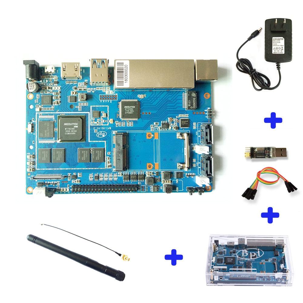 Banana PI BPI R2 Smart Home Wire 2G LPDDR3+8GBEMMC Open-source Development Board Single Board raspberry pi compatible banana pi r1 wireless router open source development board bpi r1 smart home control plate