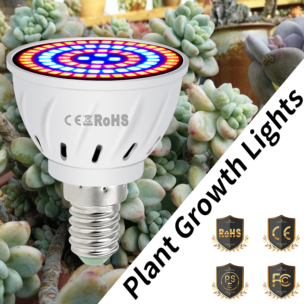 GU10 Led Grow Bulb E27 phyto lamps For Plants E14 Led Aquarium Light 4W 6W 8W B22 Greenhouse Growing Lamp 220V Indoor Tent GU5.3