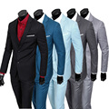 jacket+ vest+pant freeshipping good quality 2016New brand mens slim fit business 3-piece suits groom dress wedding suits for men