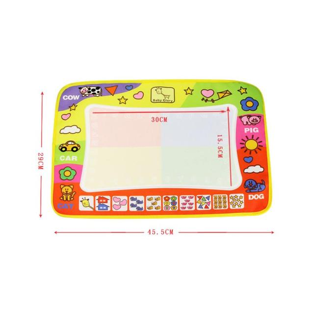 2016 Children Aqua Doodle Drawing Toys Mat Magic Pen Educational Toy 1 Mat + 2 Pen For children's Toys Mat Magic 45.5 x 29cm