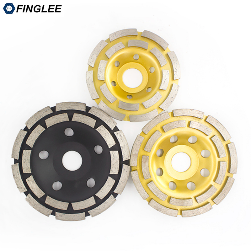 FINGLEE 1Pc/lot Double Row Segment Concrete Stone grinding wheel diamond grinding cup wheel abrasive wheel leveling wheels