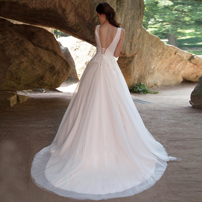 Puffy A-Line Wedding Gowns Vintage (1)