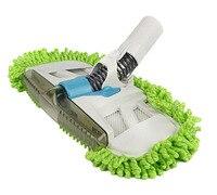 Vacuum Mophead Nozzle With Green Microfiber Dust Fringe Scrubbing Pad Nylon Brush Brush Bent In All