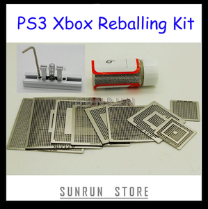 Image 1 - 9PCS Xbox PS3 Reballing Stencils + 1 Bottle 0.6mm 25K Solder Ball + 1PC Direct Heated Reballing Station