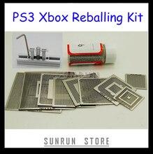 Pochoirs de rebond pour Xbox PS3, 9 pièces, + 1 bouteille avec boule à souder 0.6mm 25K, Station de rebond à chauffage Direct