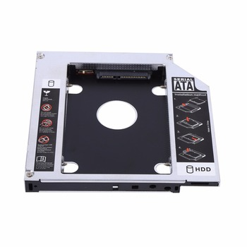 12.7mm Aluminum SATA HDD SSD Enclosure Hard Disk Drive Bay Caddy Optical DVD Adapter for Laptop