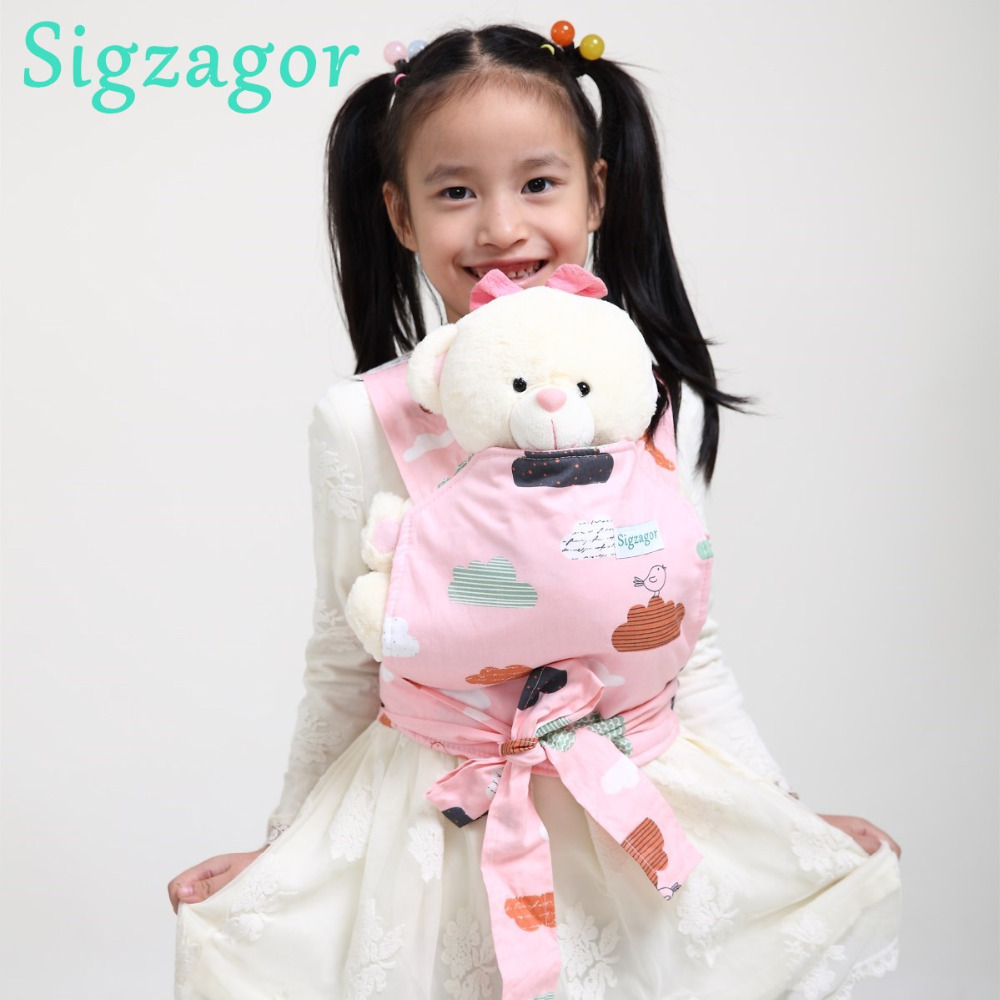 SigzagorBaby Doll Carrier Mei Tai Sling Toy For Kids ...