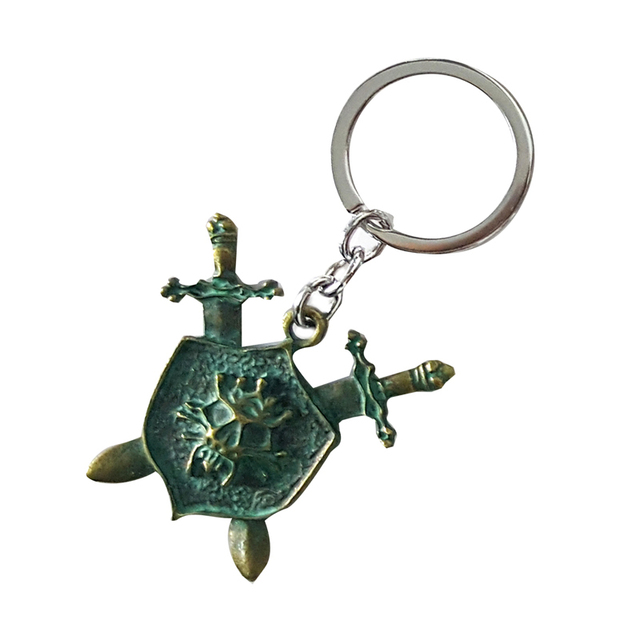 Antique Bronze Color The Symbol Of Pirates Key Chain Rings Holder