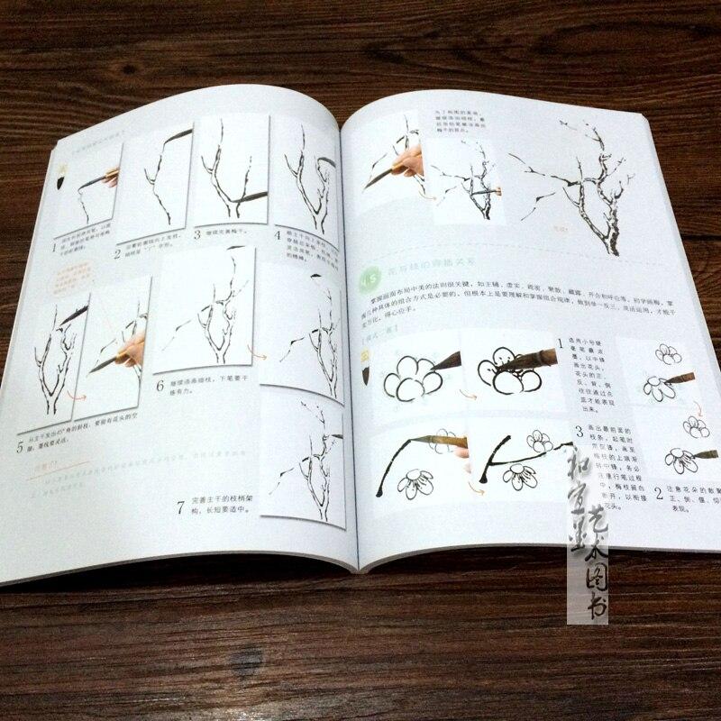 10 ชิ้น Study จิตรกรรมจีนตำราสำหรับผู้เริ่มต้นจีนสีแปรงภาพวาด art book เกี่ยวกับนกพลัม Lotus orchid-ใน หนังสือ จาก อุปกรณ์ออฟฟิศและการเรียน บน   3