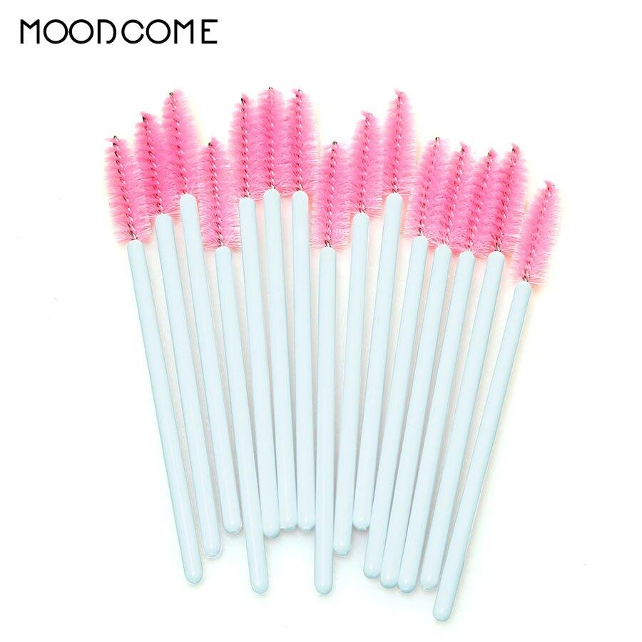 50PCS/set Eyelashes Brush Eyelashes Extension Tools Mascara Wands Applicator Spoolers Eyelashes Disposable Micro Make Up Tools