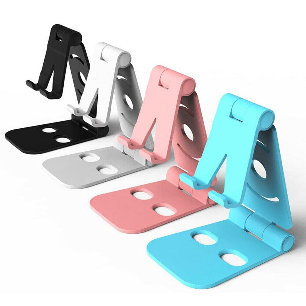 Blanco 1 unid Universal Plegable Multi-Angle Desktop Holder Soporte de Mesa de pl/ástico Soporte para el tel/éfono iPad iPad y Tablet