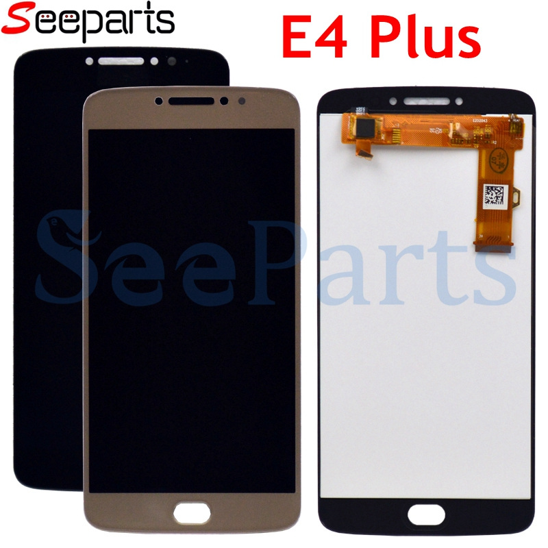 For Motorola <font><b>Moto</b></font> <font><b>E4</b></font> <font><b>Plus</b></font> LCD <font><b>Display</b></font> Touch Screen Mobile Phone Digitizer Assembly Replacement Parts For <font><b>moto</b></font> e4plus image
