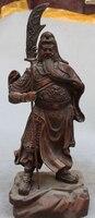"""Ev ve Bahçe'ten Statü ve Heykelleri'de Bi003163 hakkında Detaylar 15 """"Çin Bakır Bronz Ejderha Savaşçı Tanrı GuanGong Guan Gong Yu Kılıç Heykeli"""
