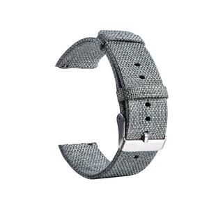 Image 4 - New High Quality Strap Universal Nylon Canvas Watchband 22mm Smart Watch Strap For Pebble Time 1 2 Generation