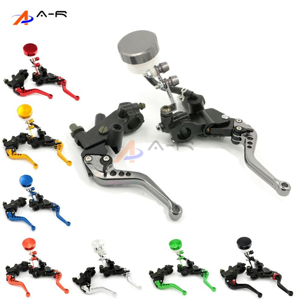 7/8 22MM CNC Clutch Brake Master Cylinder Hydraulic Reservoir Levers for Yamaha Venture Royale Virago 250/535/535S/750/1100 стоимость