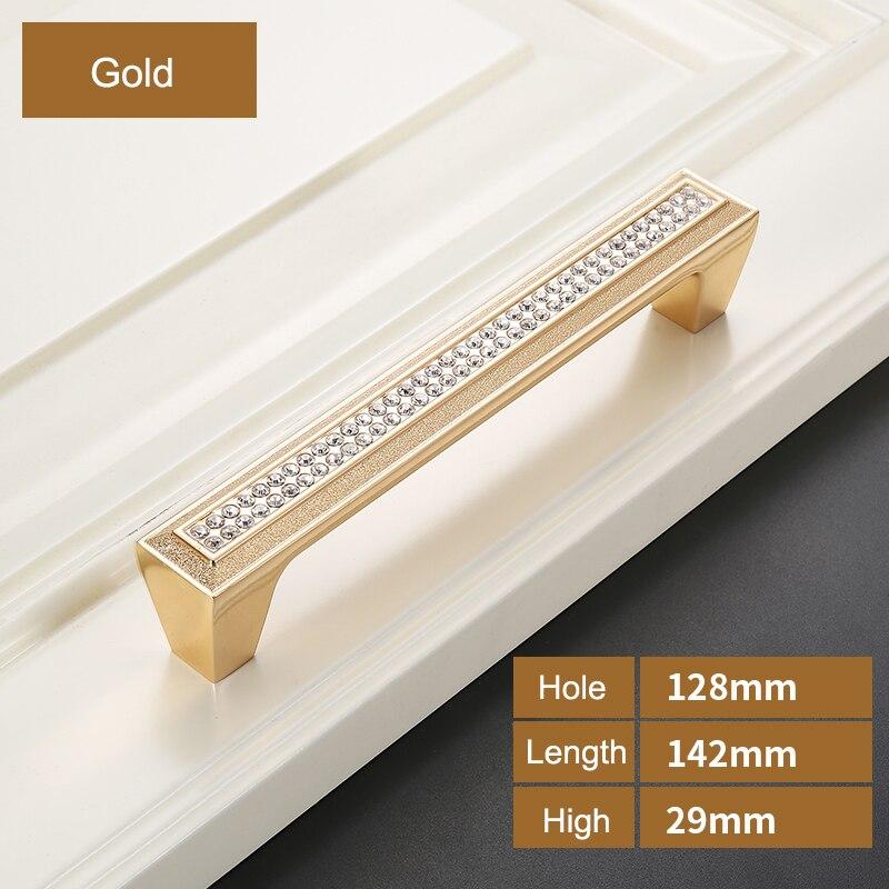 Роскошный Золотой цинковый сплав ручки ящика шкафа Европейский шкаф Мебельная ручка с винтом - Цвет: Z-1219-128