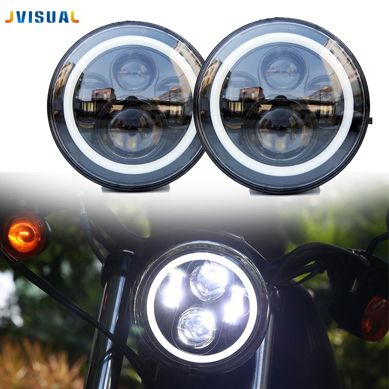 Motos Accessories 7 headlight motorcycle 7inch led headlight for Harley davison Softail Dyna Motorcycle Projector Daymaker 7 motorcycle daymaker rgb led headlight