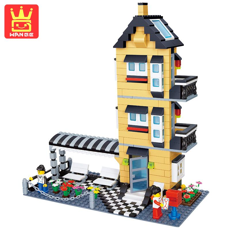 WANGE Agile Villa Building Block Set 546pcs Compatible With 3D Construction Brick Educational Hobbies Toys For Children Gifts 423pcs octonauts undersea explorer compatible building block set 3d construction brick toys educational block toy kit children