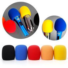 5 шт красочные микрофон поп фильтр с ветрозащитой и губка пены