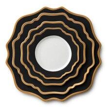 Подсолнечник керамический столовый сервиз основной ужин подносы для десерта блюдо хлеб пластины элегантный Посуда Набор Свадебный поднос Рождественский подарок