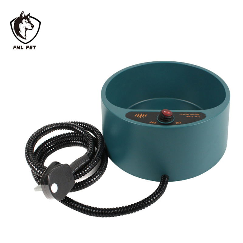FML Pet Feeders Pet Electronic Heated Water Bowl Dish Outdoor Thermal Water Bowl Feeder Pet Accessories for Cats and Dogs