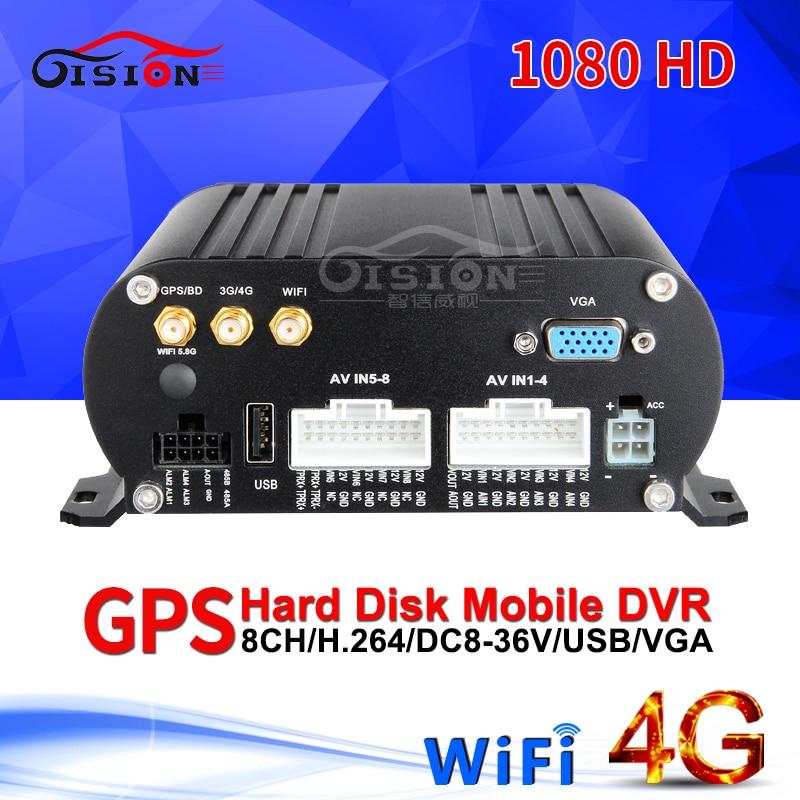 8CH WIFI GPS 4G LTE AHD Mobile Dvr Livraison Gratuite 24 H surveillance En Temps Réel De Surveillance À Distance HDD Vidéo Enregistreur Mdvr I/O Alarme