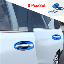 For Nissan Rogue X-Trail T32 2014 2015 2016 2017 Door Handle Bowl Cover Cup Cavity Trim Insert Catch Molding Garnish accessories for nissan x trail rogue t32 xtrail x trail 2014 2015 2016 2017 2018 2019 chrome door handle cover handles covers accessories