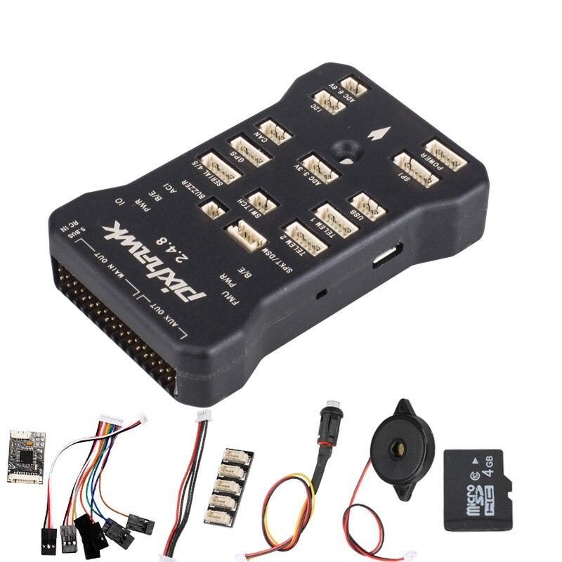 Pixhawk PX4 PIX 2.4.8 32 Bit Flight Controller Autopilot mit 4G SD Sicherheit Schalter Summer PPM I2C für RC quadcopter