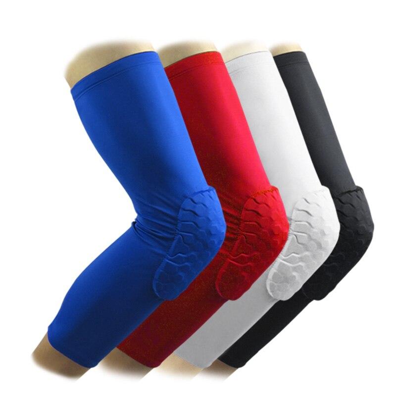 1 Piece professional knee sleeve crashproof volleyball walker crossfit athletic spandex high elastic Honeycomb Kneelet
