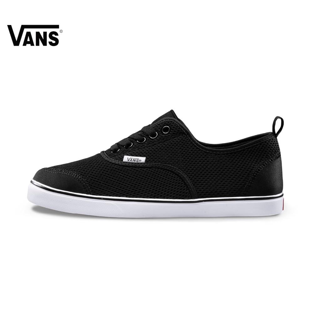 Original Vans New Arrival Summer Black Color Low-Top Men's Skateboarding Shoes Sport Shoes Sneakers free shipping