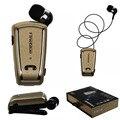 Fineblue Original mini Retrátil clipe de fone de ouvido Bluetooth Estéreo Sem Fio fones de ouvido Para iPhone Samsung tudo celular tablet