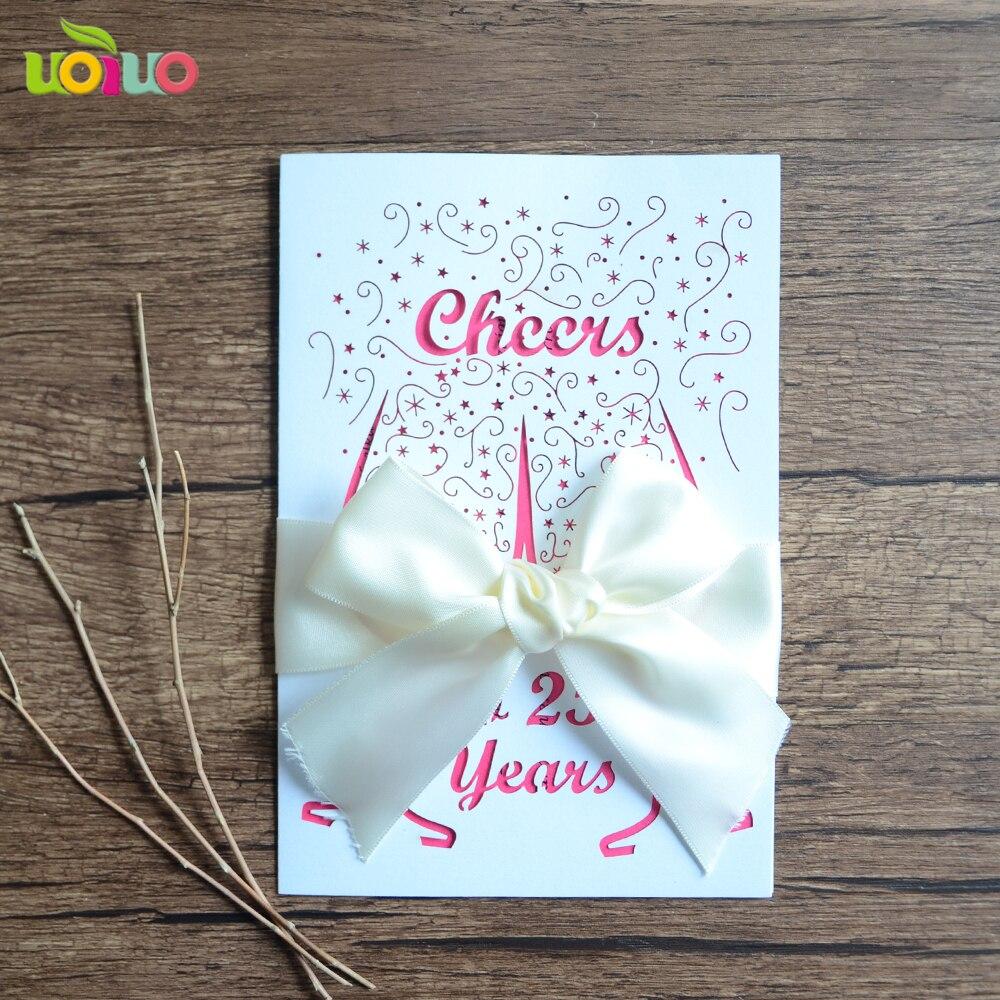 DIY Customzied Inc245 White Wedding Invitations Card, Tied
