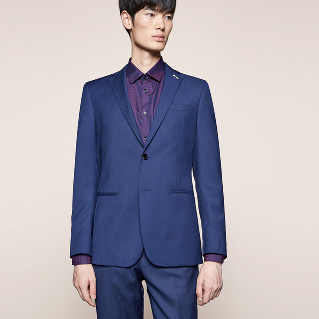 Smart Casual Business Style Suit Groom Tuxedos Wedding Suit Blazer