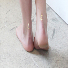 1Pcs Flash Gold  Bracelet Metallic Gold Silver Color Statements Golden Tattoo Temporary Body painted