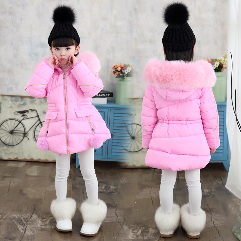 Image 2 - New  Winter Jackets Girls Hooded Thickness Kids Coats   Winter Jacket   8WC052-in Down & Parkas from Mother & Kids