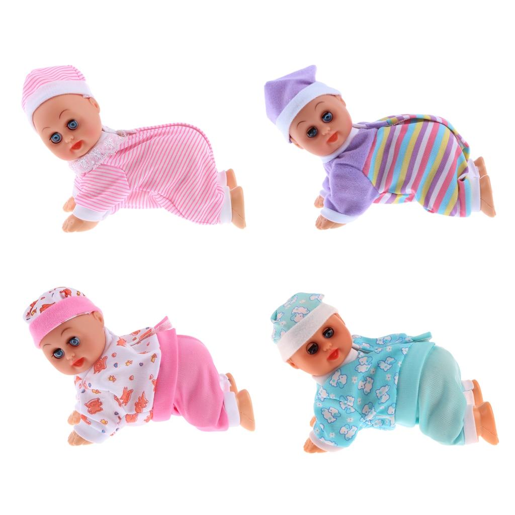Dollhouse Crawling Baby Doll-Pink