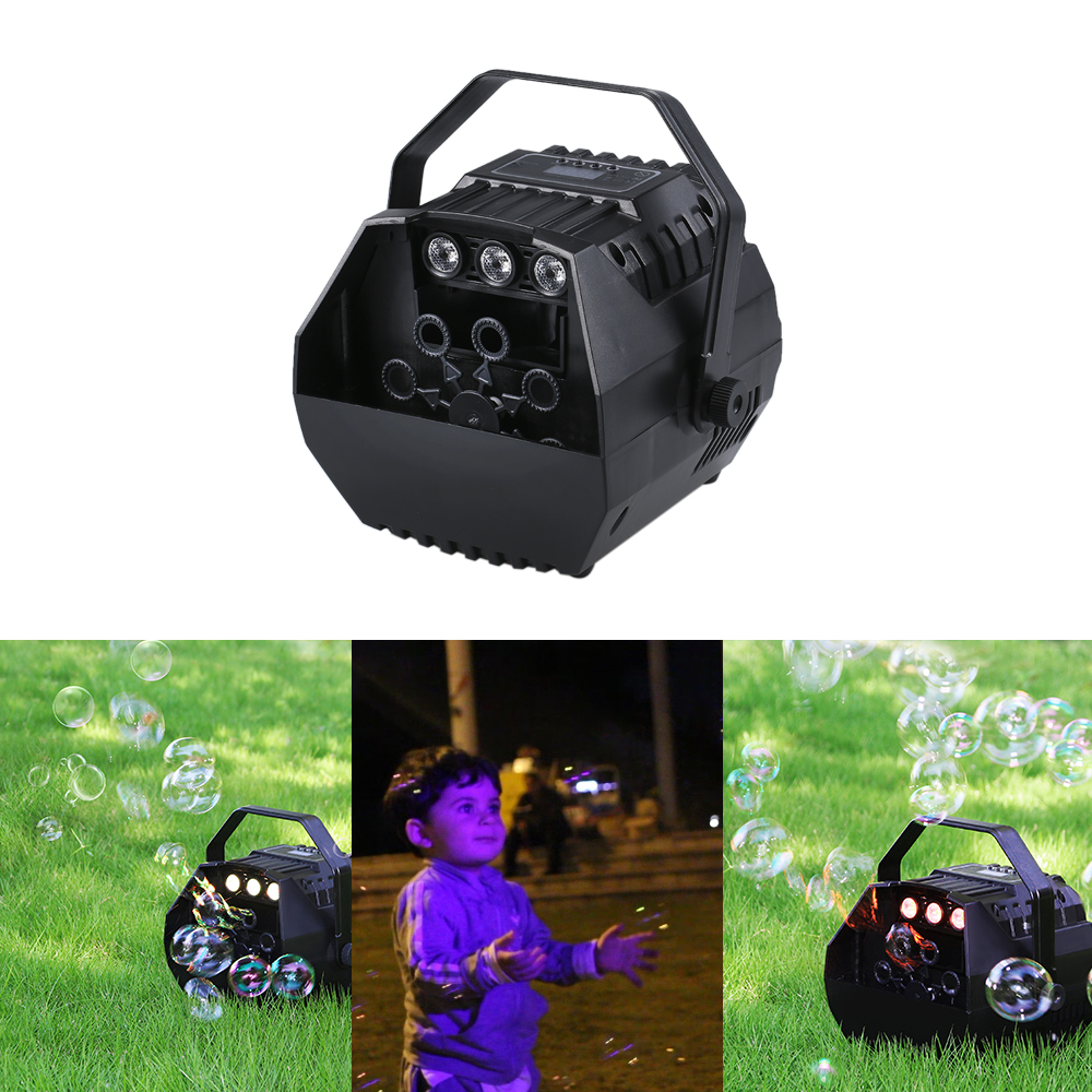 Image 2 - LED Laser Stage Lights Wireless Remote Control Bubble Machine Automatic Romantic Effect Light for Wedding Parties Festivals-in Stage Lighting Effect from Lights & Lighting