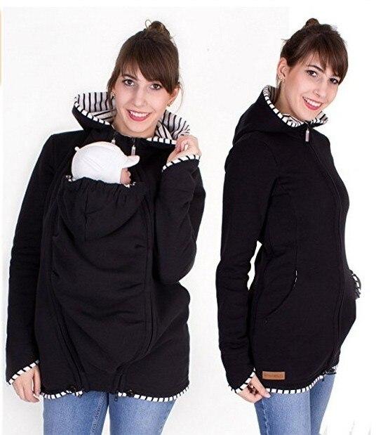 Warm Cotton Women's Maternity Carrier Baby Holder Jacket Kangaroo Carrier Baby HolderJackets Hoodies Outwear Pregnancy Coat 1