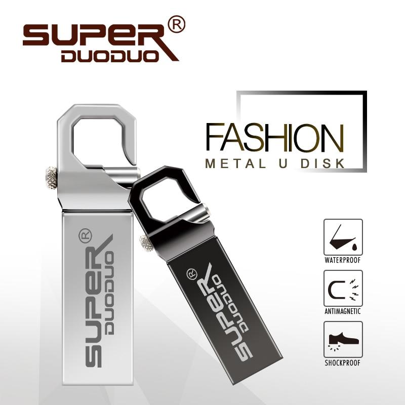 Fashion Usb Flash Drive 128gb 64gb 32gb Keychain Flash Usb Stick 16gb 8gb Memory Stick Metal Pendrive Thumbdrive Pen Drive Computer & Office External Storage
