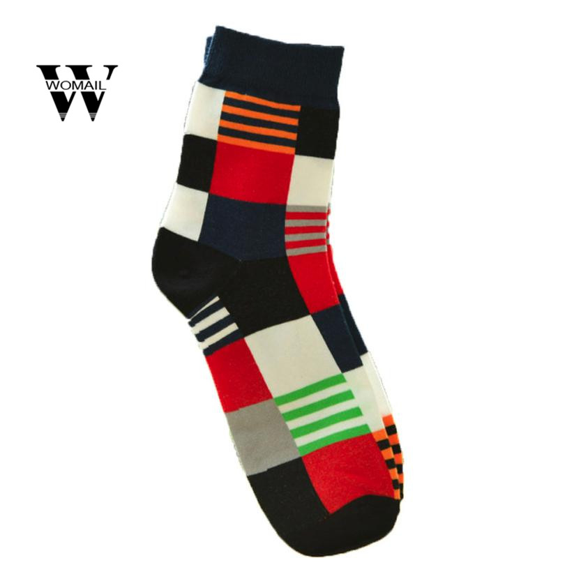 Autumn Winter Mens Casual Cotton Medium Socks Design Multi-Color Socks Dec 1