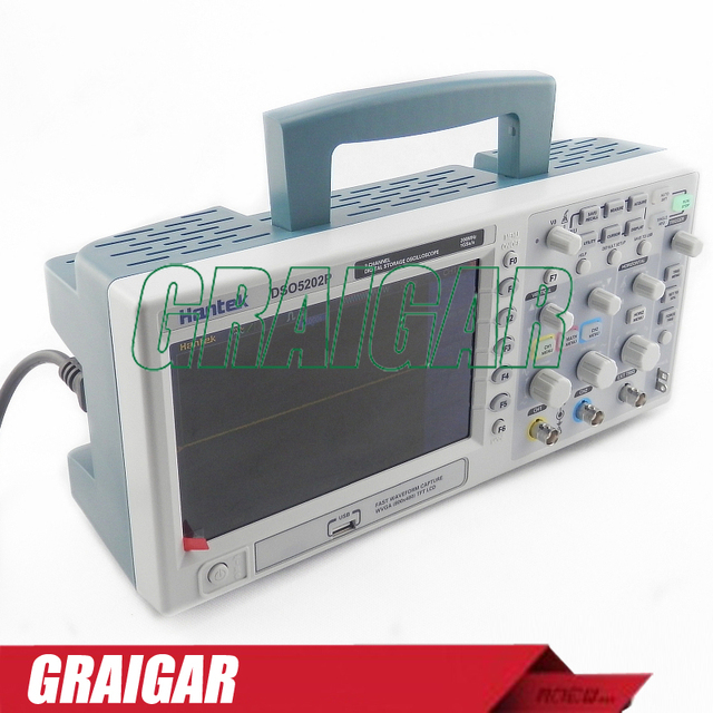 Best Price New Hantek DSO5202P Digital storage oscilloscope 200MHz 2Channels 1GSa/s 7' TFT LCD Record Length 24K USB AC110-220V