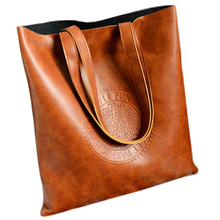 Retro PU Leather Women Shoulder Bag Female Causal Totes for Daily Shopping Handbag fashion new large and cheap women bag high quality pu leather female shoulder bag vintage brown solid handbag for shopping daily