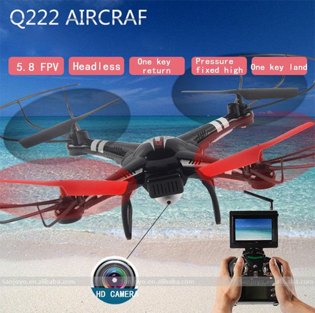 Q222 WL helicóptero 5.8G Câmera FPV 720 P Pressão de Ar Pairando conjunto de Alta RC Quadcopter drone RTF VS syma X8w jjrc H9D