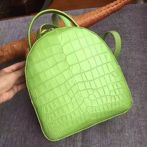 Lady Backpack Crocodile Small Women Strap Real Matt Top-Handles Daily-Bag Alligator-Skin